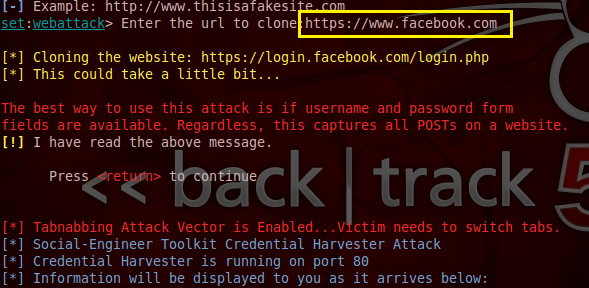 11 - Hack Facebook, Gmail bằng Backtrack 5 R3