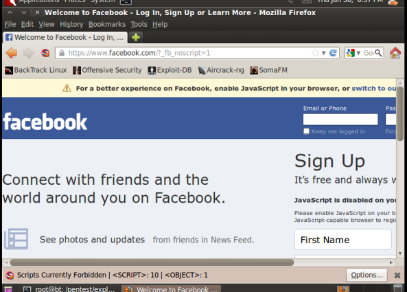 c - Hack Facebook, Gmail bằng Backtrack 5 R3