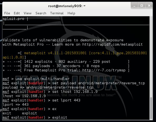 2 - Hướng dẫn Hack điện thoại Android bằng Virus (Trojan) trên Kali